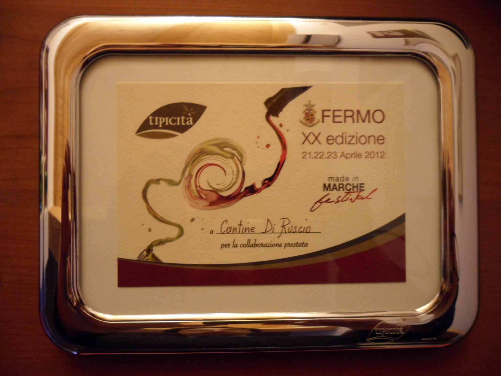 Cantina Di Ruscio premiata al Tipicità 2012, Made in Marche festival
