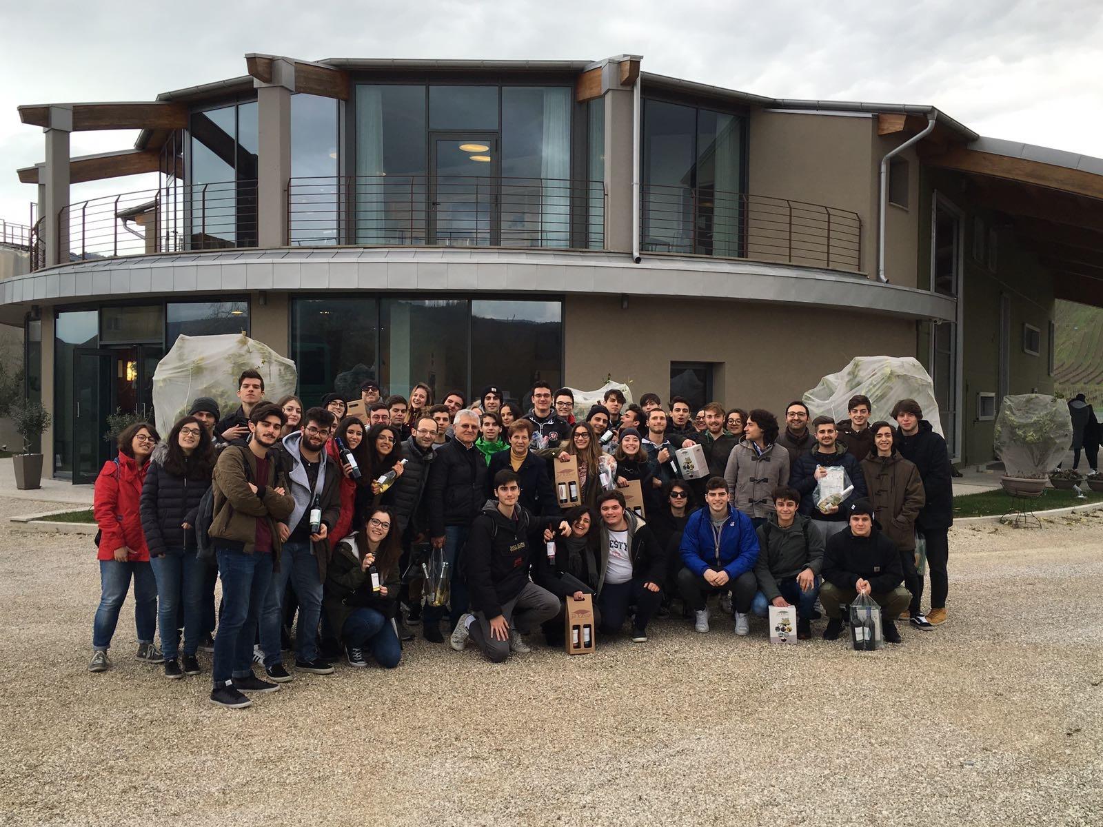 Visita in Cantina della Scuola IIS Da Vinci di Civitanova