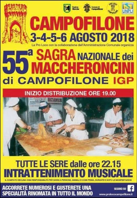 55° sagra dei maccheroncini di Campofilone