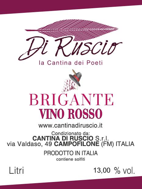 Vino Rosso 2018 Brigante
